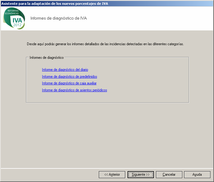 Cambio / Actualizacion IVA Contaplus